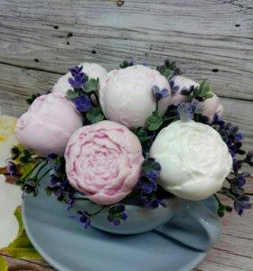 Цветы в чайной паре《Мыльный букет》