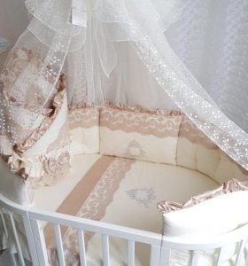 Набор в круглую кроватку Margaret crem