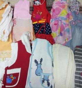 Одежда на девочку 2 ПАКЕТА!!! (86-92)