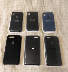 Чехлы iPhone  Silicone case. Стекла