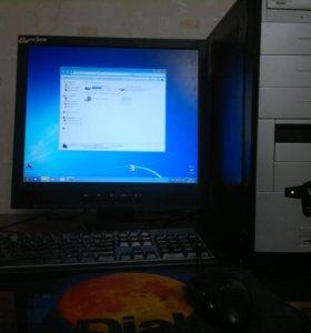 """Компьютер, 2 ядра, 2 гига, монитор - 17"""", 6000 р."""