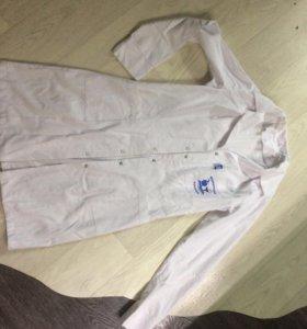 Медицинский белый халат медсестры
