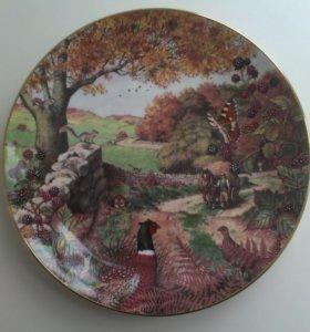 Коллекционная тарелка. Фарфор. 1987г