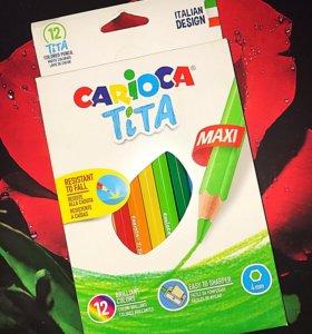 Carioca Набор цветных карандашей Tita Maxi 12цвет