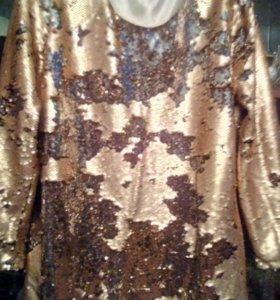 Платье с пайтками