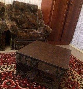 Кресло- кровати и пуф- стол