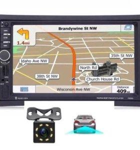 Универсальная 2DIN R40 + GPS + камера