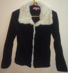Куртка/жакет из вельвета с мехом