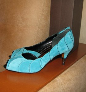 Замшевые туфли новые 40 Nando Muzi мятные