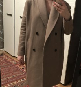 Пальто кокон allsaints шерсть