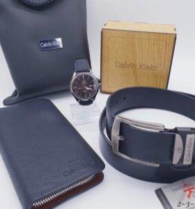 Подарочный набор Hugo Boss (портмоне+ремень+часы)