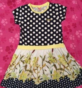 Новое летнее платье для девочки р.110