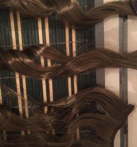 Волосы -локоны на заколках