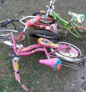 Три детских велосипеда,цена за все