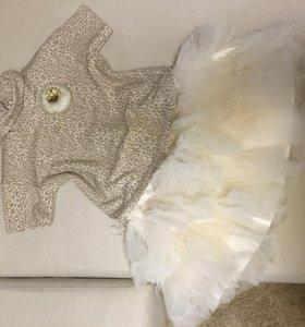 Костюм для девочки (юбка, кофта), Италия