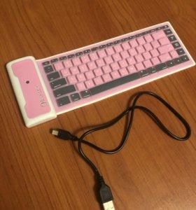 Беспроводная силиконовая компактная клавиатура
