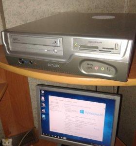 Компьютер i3 с монитором, клавиатурой, мышкой