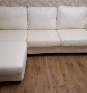 Кожаный угловой диван ИКЕА