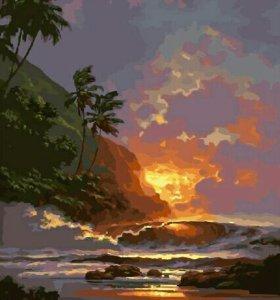 Раскраска *Гавайский закат* 40*50 см