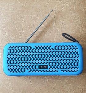 Классная беспроводная bluetooth колонка с радио L8