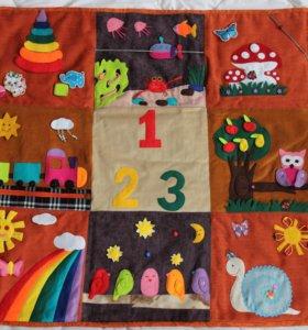 Развивающий детский коврик ручной работы