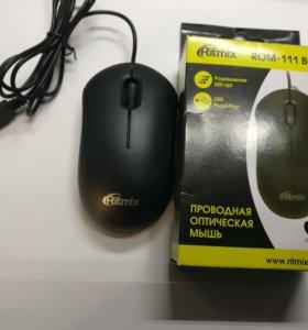 Мышка проводная. Новая