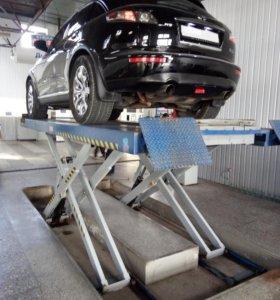 Диагностика подвески автомобиля на люфт-детекторе