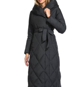 Длинное зимнее пальто на биопухе 9001