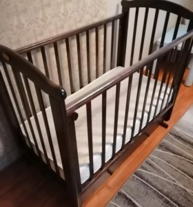 Кровать с поперечным маятником