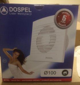 Вентилятор для ванны,туалета,кухни. Новый.