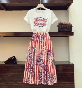 Новые юбка и футболка