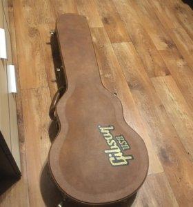 Кожаный кейс Gibson для электрогитары, кофр чехол