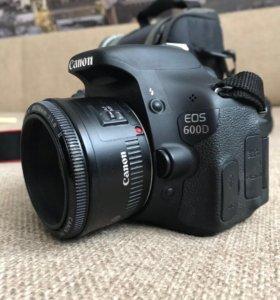 Продается Canon eos 600d + Canon EF 50 mm F1.8