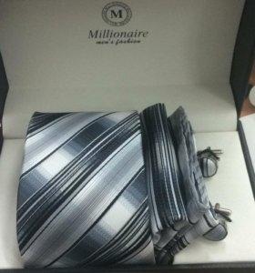 Набор галстук, платок, запонки