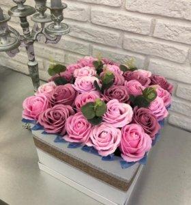 Букет из мыльных роз