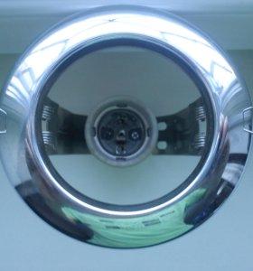 Встраиваемый светильник Feron 2767R63 Хром E27 Б/У
