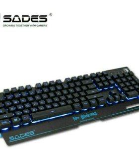 Мультимедийная Игровая клавиатура 5 RGB 7 цветов