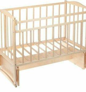 Детская кровать, матрас, бортики
