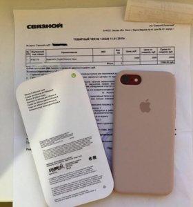 Чехол Apple Silicone Case для iPhone 7 8 (розовый af135fbb982b2