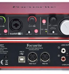 Внешняя звуковая карта Focusrite Scarlett 2i4