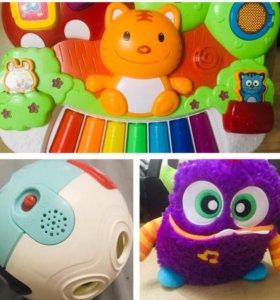 Музыкальные игрушки fishe-price, babygo