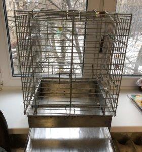 Клетка для попугая из нержавейки
