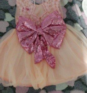 Пышное платье на годик девочке.
