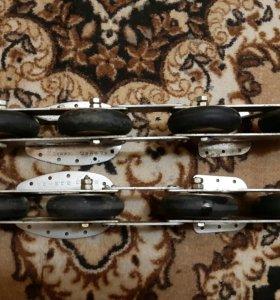 Четырех колесные советские ролики железные