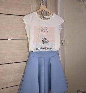 комплект из футболки и юбки