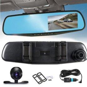 Видеорегистратор-зеркало (2 камеры!)