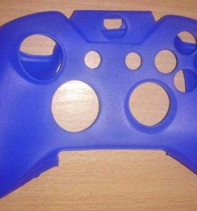 Силиконовый чехол защитный на Xbox one синий