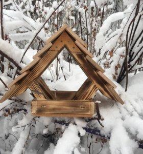 Кормушки деревянные для птиц с интересным дизайном