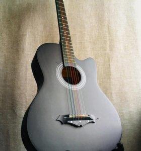 Гитара акустическая новая чёрная