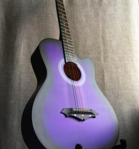 Гитара акустическая новая фиолетовая